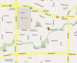 Link to Google Map and Directions for Teds Paperback on Sutherland Avenue in Kelowna