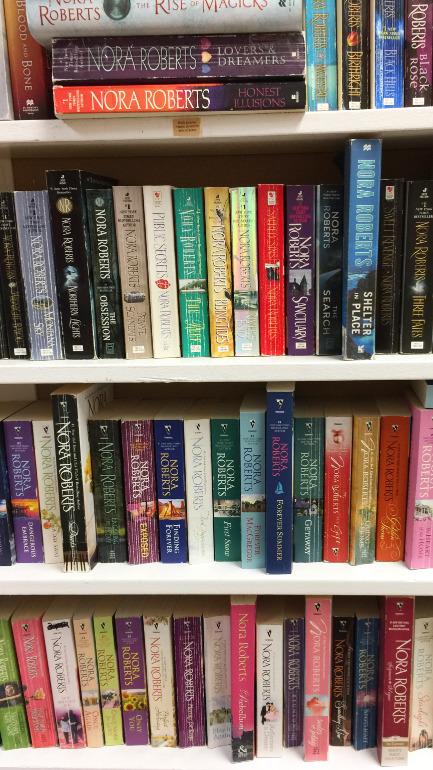 Norah Roberts novels at Teds Paperback in Kelowna